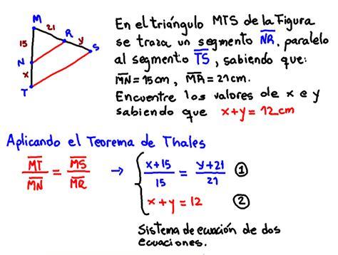 Teorema de Thales ejercicio resuelto   www ...
