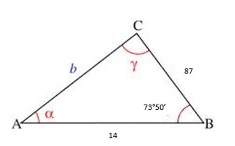 Teorema del coseno ejemplos | Matematicas Modernas