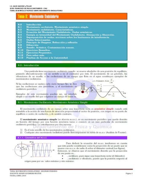 Teoria de movimiento ondulatorio grado 11° i.e.f.d.p.s ...