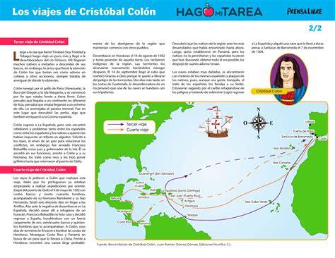 Tercer y cuarto viaje de Cristóbal Colón - Hago mi ...