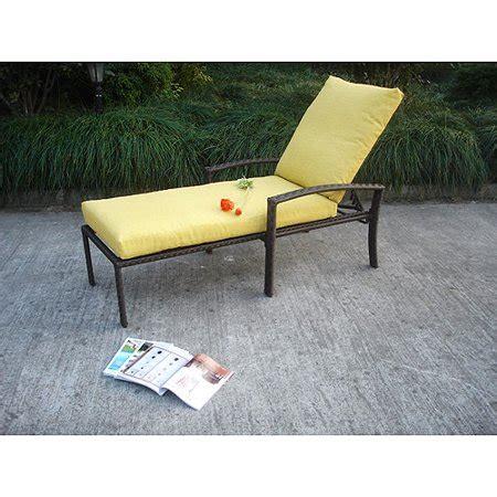 Terrace Resin Wicker Chaise Lounge - Walmart.com