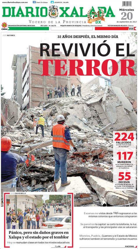 Terremoto en México: Las portadas del dolor y la ...