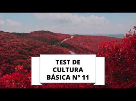 TEST DE CULTURA GENERAL 11 (NIVEL BÁSICO) - YouTube
