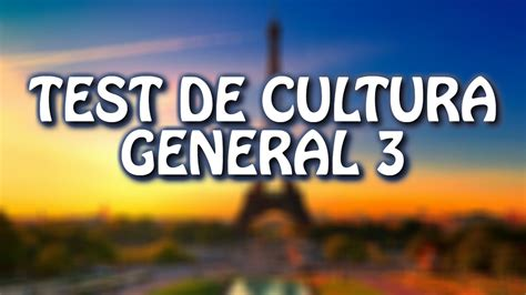 Test De Cultura General 3 / WikiReto - YouTube