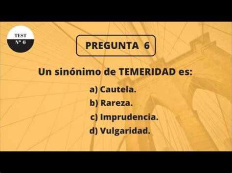 TEST DE CULTURA GENERAL 6 (NIVEL BÁSICO) - YouTube