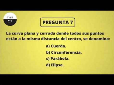 TEST DE CULTURA GENERAL 8 (NIVEL BÁSICO) - YouTube