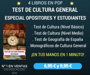 Test de Oposiciones Online: Test de Cultura General