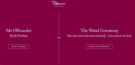 Test per la Bacchetta nel nuovo Pottermore: traduzione ...