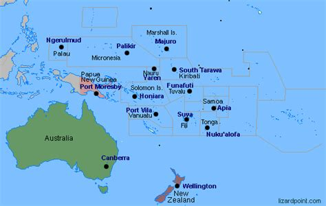 Test your geography knowledge   Oceania capital cities ...