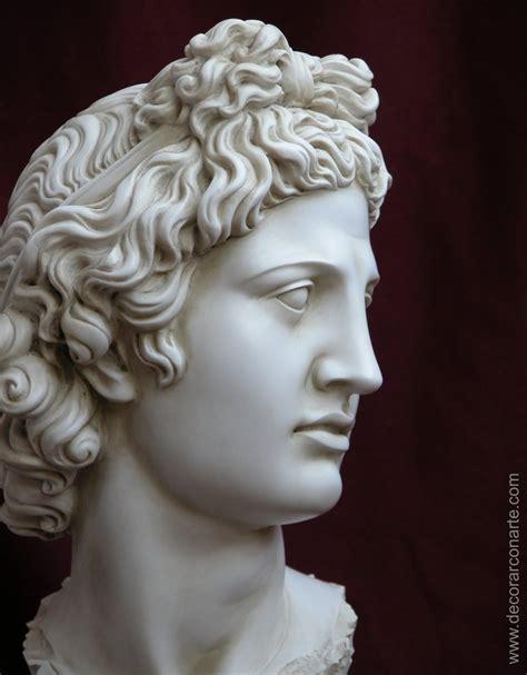 Testa di Apollo del Belvedere. 40cm - Vendita Figure ...