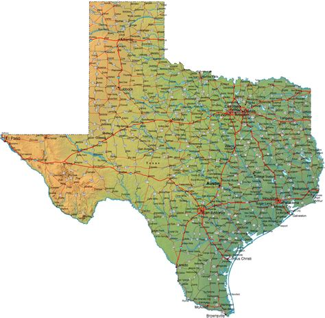 Texas Map With County Lines - tx, map of texas pigskin ...