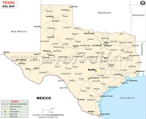 Texas Railroad Map, Texas Rail Map
