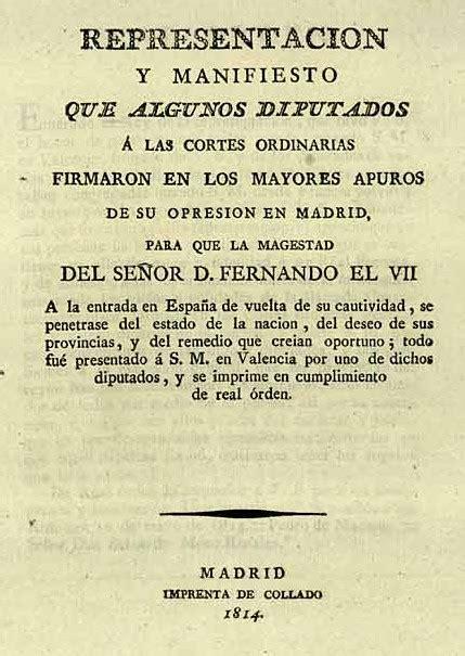 TEXTO 2: El Manifiesto de los Persas (12-04-1814 ...