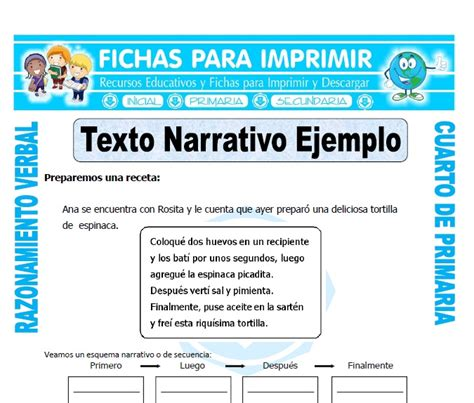 Textos Narrativos Cortos Para Niños