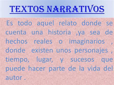 Textos narrativos.   ppt descargar
