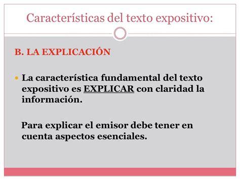 TEXTOS NO LITERARIOS Texto Expositivo   ppt descargar