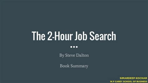 The 2 Hour Job Search - Book summary