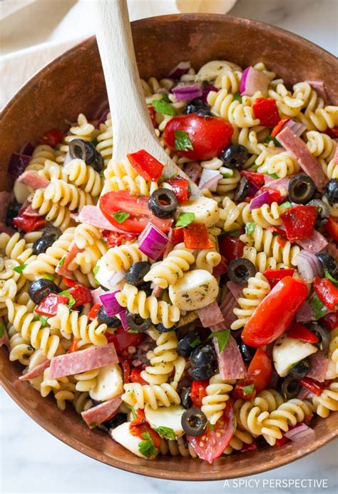 The Best Italian Pasta Salad Recipe   A Spicy Perspective