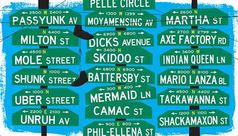 The Big List of Funny Philadelphia Street Names ...