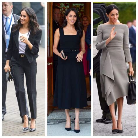 The 'colorless' wardrobe of Duchess of Sussex, Meghan ...
