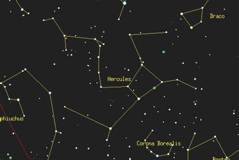 The Constellation Hercules - by Astronomy Net