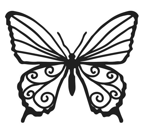 The Crafters Workshop - 4x4 Balzer Bits Template - Butterfly