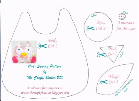 The Crafty Button: Free Owl Sewing Pattern - Crafty Button ...
