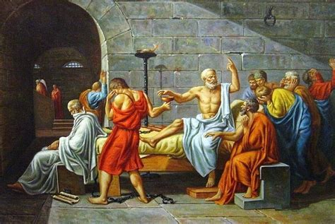 The Death Of Socrates Oil Painting by David.Jacques-Louis ...