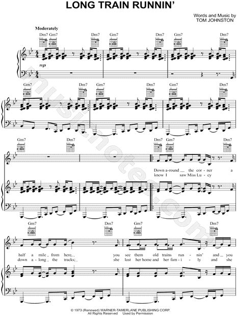 The Doobie Brothers  Long Train Runnin   Sheet Music in G ...