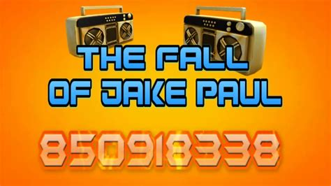 The Fall Of Jake Paul song ID code   Roblox   YouTube