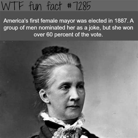 The first female mayor in America – WTF fun fact ...
