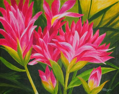 The gallery for --> Acrylic Painting Flowers Canvas