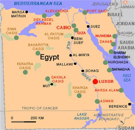 The Geography of Ancient Egypt 450 BC ~ Ancient Egypt Facts