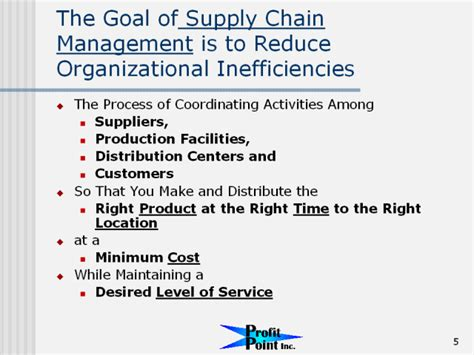 The Goal of Supply Chain Management is to Reduce ...