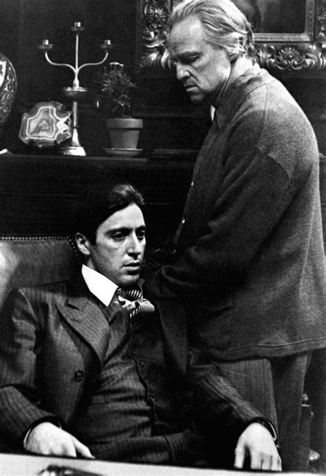 The Godfather Poster, Vito and Michael Corleone, Father ...