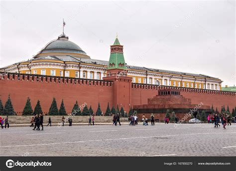 The Lenin's Mausoleum (Lenin's Tomb) on the Red Square ...