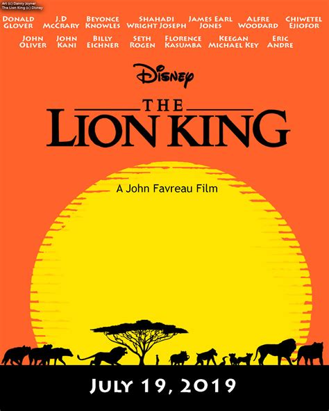 The Lion King Live Action Poster by RDJ1995 on DeviantArt