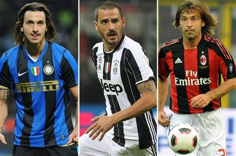 The list of players who've played for Juventus, AC Milan ...
