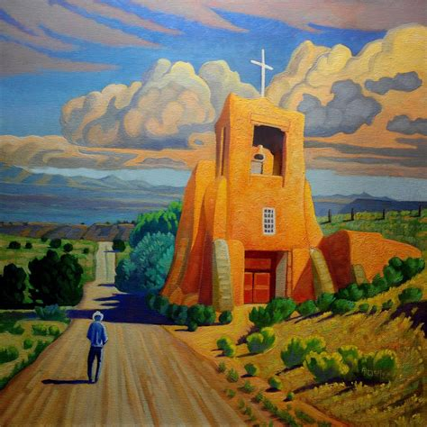 The Long Road To Santa Fe Painting by Art West