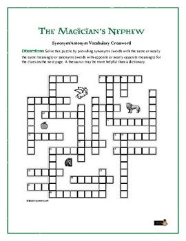The Magician's Nephew: Synonym/Antonym Crossword—Use with ...