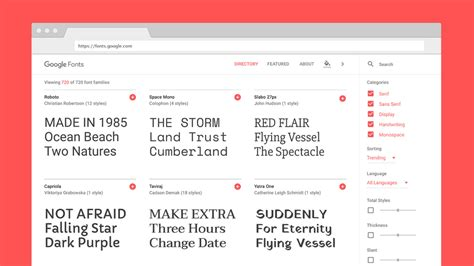 The new Google Fonts database is a design geek s paradise ...