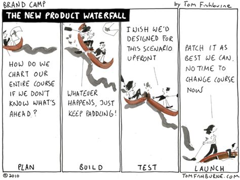 the new product waterfall   Marketoonist   Tom Fishburne