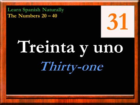 The Numbers in Spanish 20 40 | Counting in Spanish | Learn ...