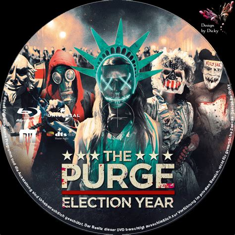 The Purge 3 - Election Year blu-ray cover & label (2016 ...