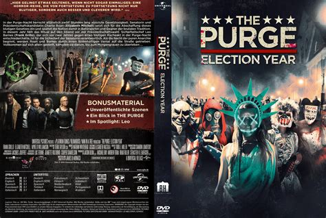 The Purge 3 - Election Year dvd cover & label (2016) R2 ...