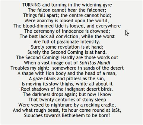 The Second Coming - William Butler Yeats. http://www ...