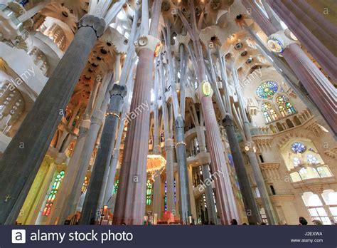 The stunning interior of the Sagrada Familia, the Antoni ...