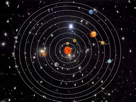 The sun is at the center of the solar system. It is a sta ...