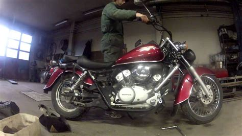 The temperarly sound of my Honda Shadow 125 custom exhaust ...