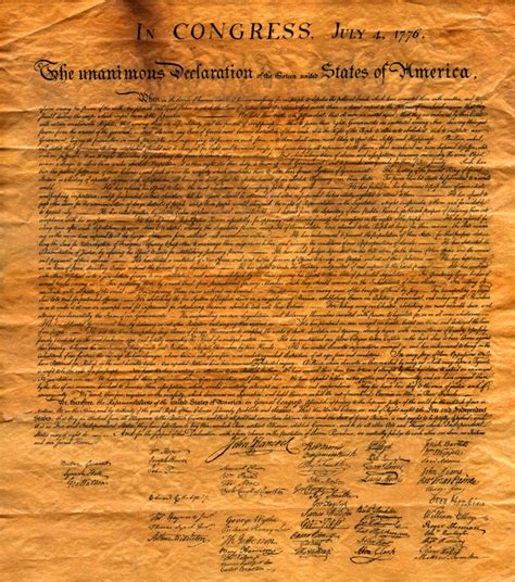 The Unanimous Declaration Of The Thirteen United States Of ...